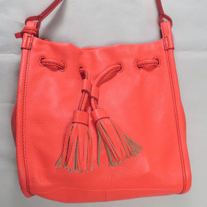 Fossil Womens Shoulder Bag Crossbody Leather Neon